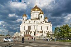De Kathedraal van Christus de Verlosser in Moskou, Rusland - Mei 13, 2 Royalty-vrije Stock Afbeeldingen