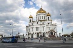 De Kathedraal van Christus de Verlosser in Moskou, Rusland - Mei 13, 2 Stock Foto