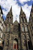 De Kathedraal van Clermont-ferrand in Frankrijk Stock Afbeeldingen