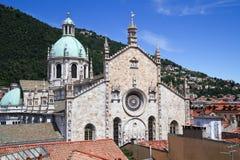 De kathedraal van Como, Italië Stock Foto's