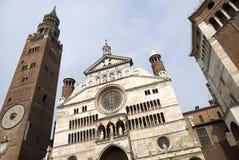 De Kathedraal van Cremona Stock Foto's