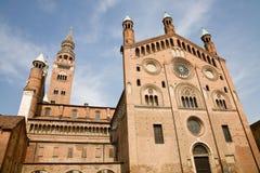De Kathedraal van Cremona, Italië Stock Afbeeldingen