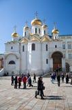 De kathedraal van de Aankondiging in het Kremlin, Moskou, Rusland Royalty-vrije Stock Afbeeldingen