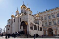 De kathedraal van de Aankondiging in het Kremlin, Moskou, Rusland Stock Fotografie