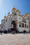 De kathedraal van de Aankondiging in het Kremlin, Moskou, Rusland Stock Foto's