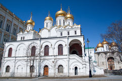 De kathedraal van de Aankondiging in het Kremlin, Moskou, Rusland Stock Afbeelding