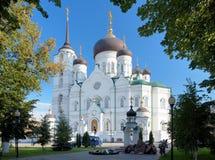 De Kathedraal van de aankondiging in Voronezh, Rusland stock afbeelding