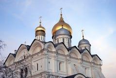 De Kathedraal van de Aartsengel van Moskou het Kremlin Stock Foto