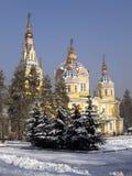 De Kathedraal van de beklimming in Alma Ata, Kazachstan Royalty-vrije Stock Afbeeldingen
