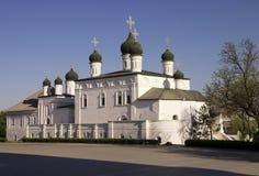De Kathedraal van de drievuldigheid van Astrakan het Kremlin, Rusland Stock Fotografie