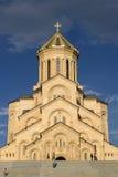 De kathedraal van de Drievuldigheid van Tbilisi Heilige Royalty-vrije Stock Foto
