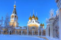 De Kathedraal van de Gradoyakutskytransfiguratie stock foto's