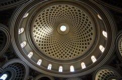 De Kathedraal van de Koepel van Mosta - Malta stock fotografie