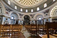 De Kathedraal van de Koepel van Mosta - Malta royalty-vrije stock afbeelding