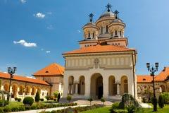 De Kathedraal van de kroning in Alba Iulia, Roemenië Stock Afbeelding