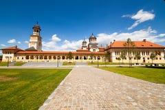 De Kathedraal van de kroning in Alba Iulia, Roemenië royalty-vrije stock afbeelding