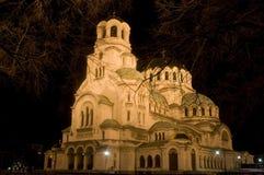 De kathedraal van de nacht Stock Foto