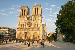 De kathedraal van de Notredame stock afbeeldingen