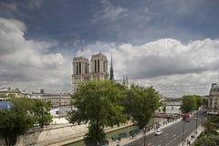 De kathedraal van de Notredame, Parijs Royalty-vrije Stock Foto