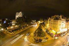 De kathedraal van de Notredame, Parijs Stock Afbeelding