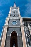 De Kathedraal van de Onbevlekte Ontvangenis in Chantaburi in Thai Stock Afbeeldingen