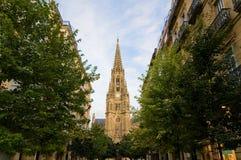 De Kathedraal van de Predikant van Buen in San Sebastian. Spanje Royalty-vrije Stock Foto's