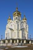 De Kathedraal van de transfiguratie in Khabarovsk Royalty-vrije Stock Afbeelding