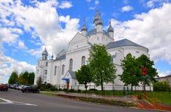 De Kathedraal van de transfiguratie Slonim wit-rusland Stock Foto