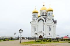 De Kathedraal van de Verlossertransfiguratie, Mogilev, Wit-Rusland royalty-vrije stock afbeeldingen