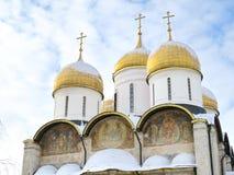 De Kathedraal van de veronderstelling in het Kremlin Stock Afbeelding