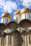 De Kathedraal van de veronderstelling, Moskou het Kremlin. Rusland Royalty-vrije Stock Afbeeldingen
