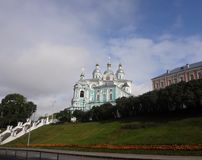 De Kathedraal van de veronderstelling in Smolensk Stock Foto