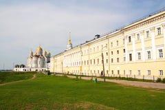 De kathedraal van de veronderstelling in Vladimir Royalty-vrije Stock Foto's