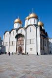 De kathedraal van Dormition in het Kremlin, Moskou, Rusland Stock Foto