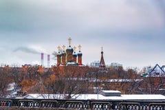 De Kathedraal van Dormition in krutitskoemetochion in Moskou royalty-vrije stock afbeeldingen