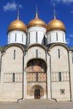 De Kathedraal van Dormition in Moskou het Kremlin, Rusland Royalty-vrije Stock Fotografie