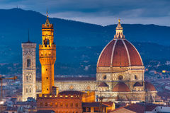 De kathedraal van Duomo in Florence Stock Foto's