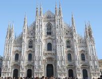 De Kathedraal van Duomo in Milaan Stock Foto's
