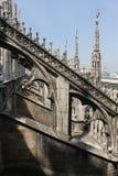 De Kathedraal van Duomo in Milaan Stock Afbeelding