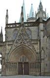 De Kathedraal van Erfurt stock afbeeldingen