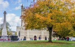 De Kathedraal van Exeter, Exeter, Devon, Engeland Stock Afbeeldingen