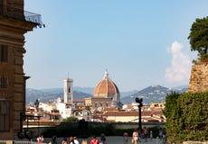De kathedraal van Florence van Boboli-tuinen stock afbeelding