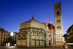 De Kathedraal van Florence (Duomo - Di Santa Maria del Fiore van de Basiliek) stock afbeeldingen