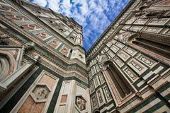 De kathedraal van Florence op de hemelachtergrond Royalty-vrije Stock Fotografie