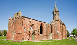 De kathedraal van Fortrose; historische ruïnes. Stock Foto