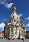 De kathedraal van Frauenkirche in Dresden (Duitsland) Royalty-vrije Stock Foto's