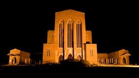 De Kathedraal van Guildford bij Nacht Stock Fotografie