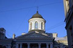 De kathedraal van heilige Catherine De historische bouw op het Nevsky-vooruitzicht in heilige-Petersburg, Rusland royalty-vrije stock foto