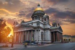 De Kathedraal van heilige Isaac stock foto