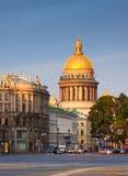 De Kathedraal van heilige Isaac in Heilige Petersburg stock foto